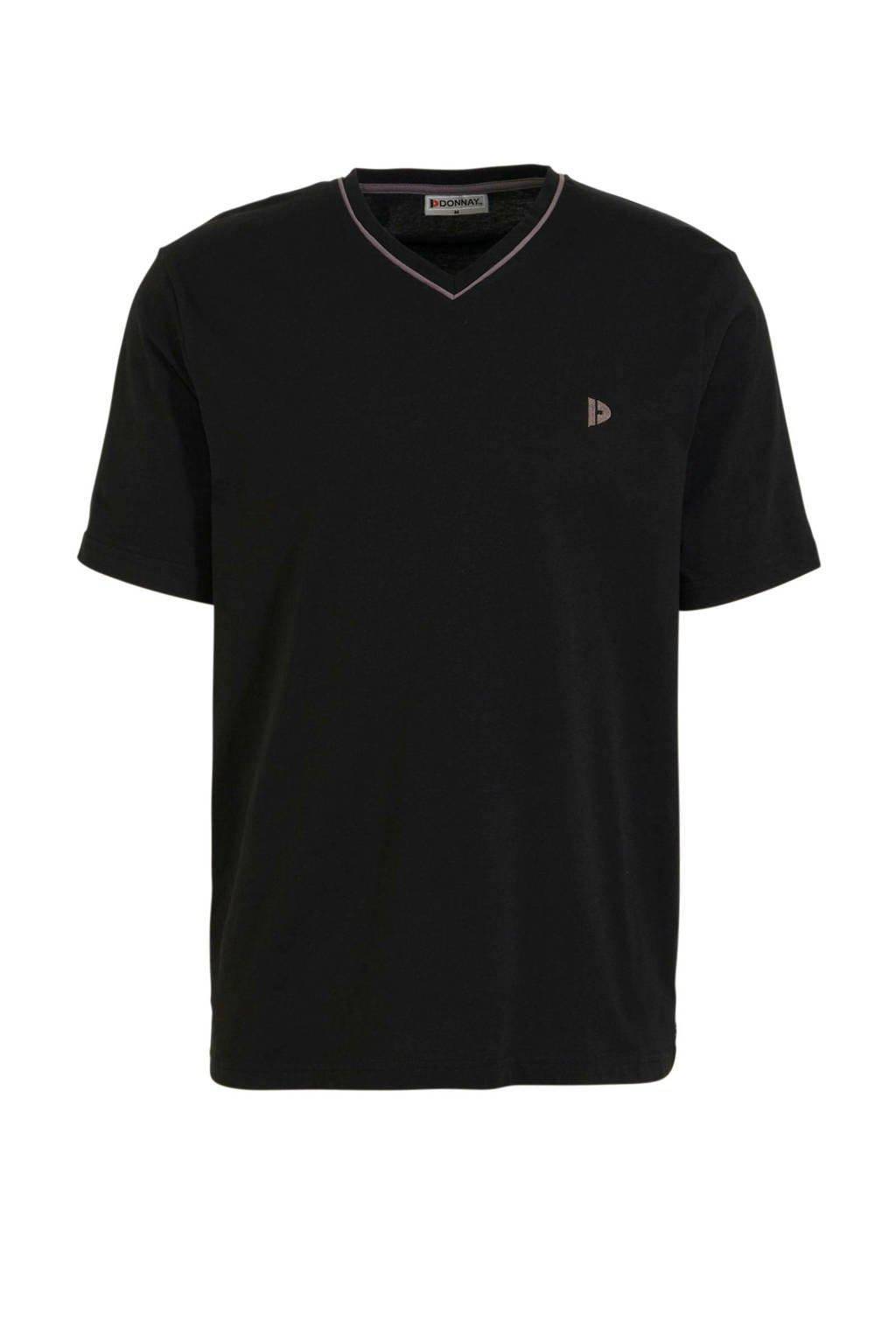 Donnay   sport T-shirt Jason zwart, Zwart