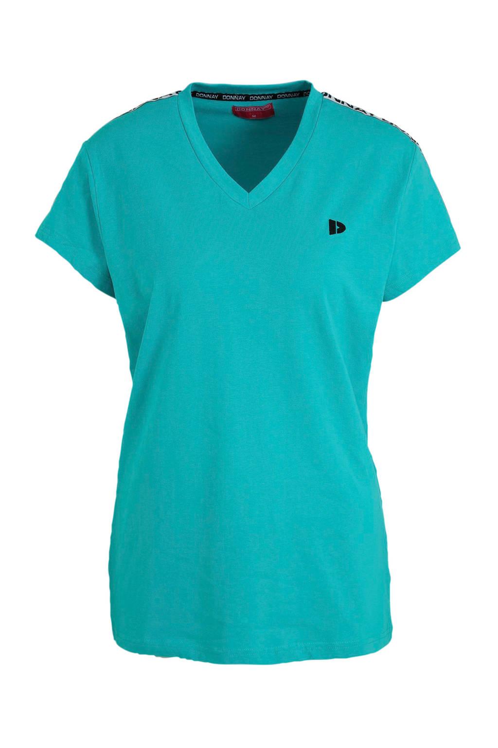 Donnay sport T-shirt aqua blauw, Aqua blauw