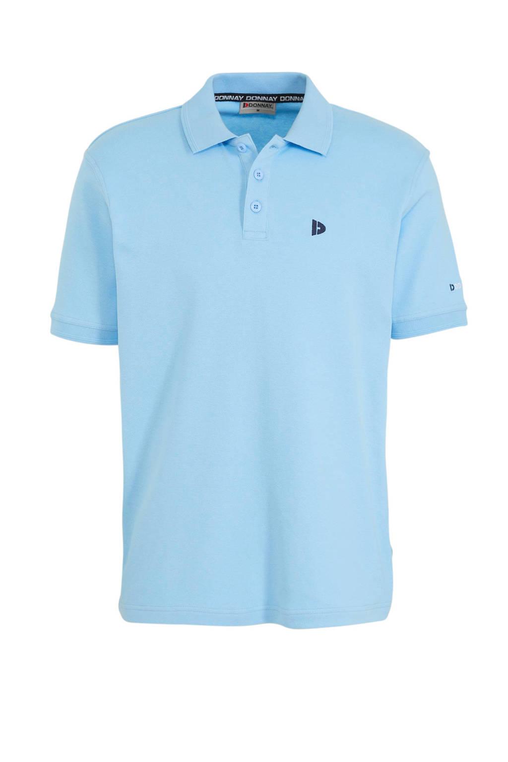 Donnay   sportpolo Noah lichtblauw, Lichtblauw