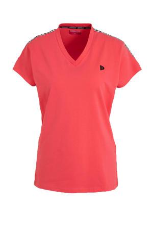sport T-shirt koraalrood