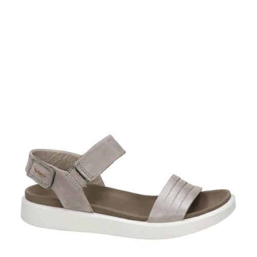 Ecco Flowt nubuck sandalen grijs