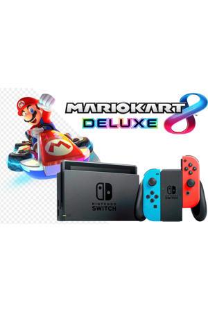Switch + Mario Kart 8 Deluxe bundel (rood/blauw)
