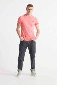 Superdry gemêleerd T-shirt van biologisch katoen koraal, Koraal