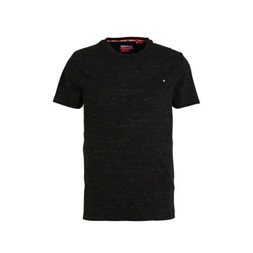Superdry gem??leerd T-shirt zwart melange