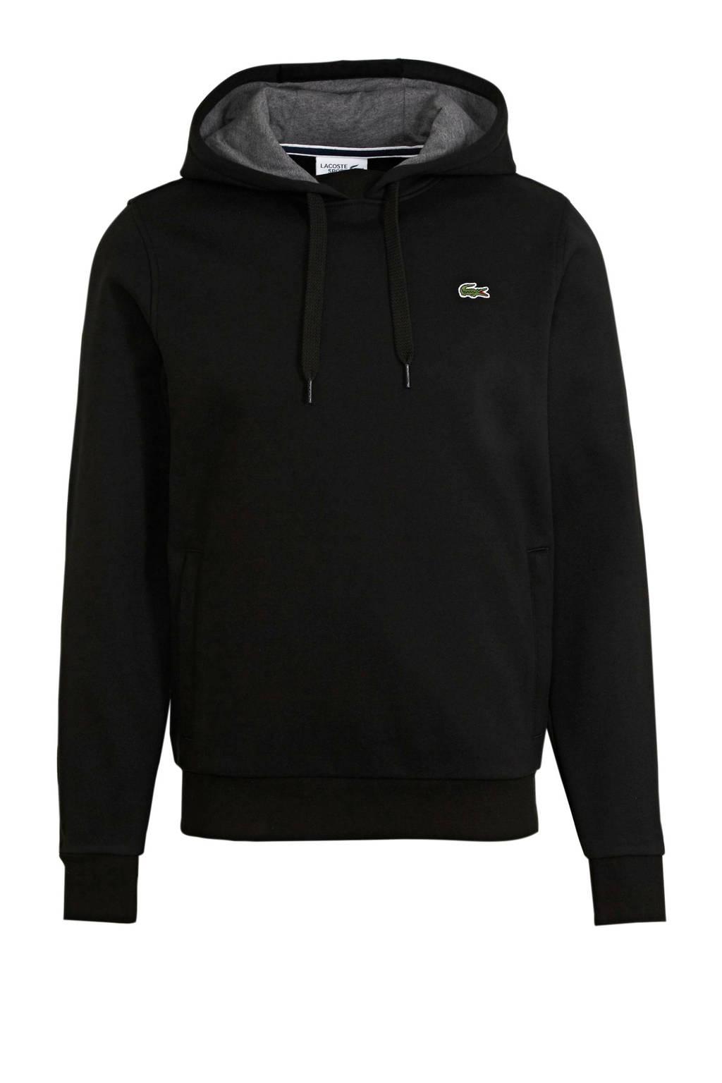 Lacoste   hoodie zwart, Zwart