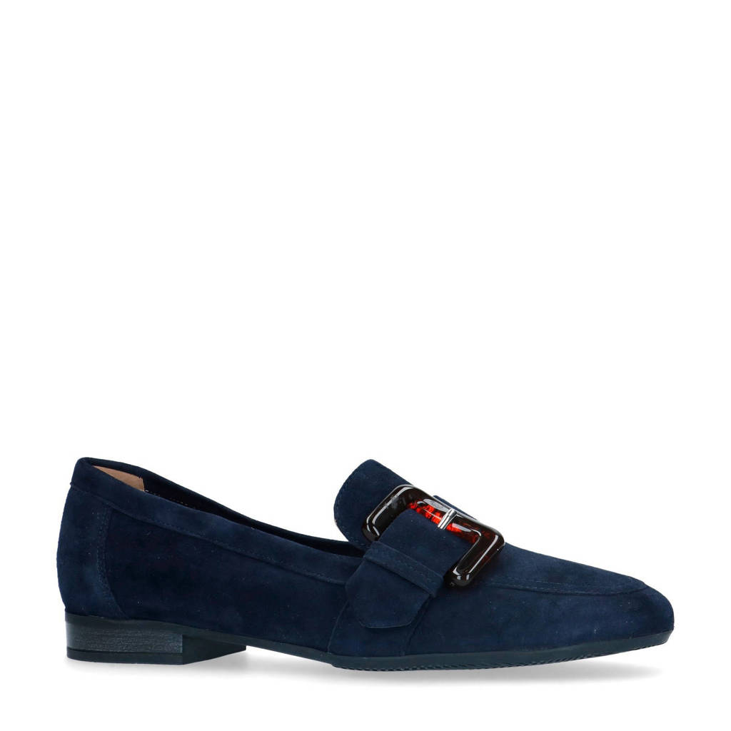 Manfield   suède loafers donkerblauw, Donkerblauw