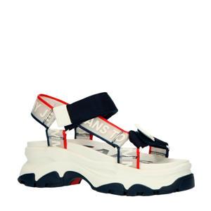 Pop Color Hybrid Sandal  plateau sandalen wit/blauw