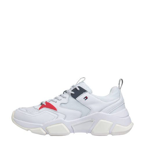 Tommy Hilfiger leren chunky sneakers wit