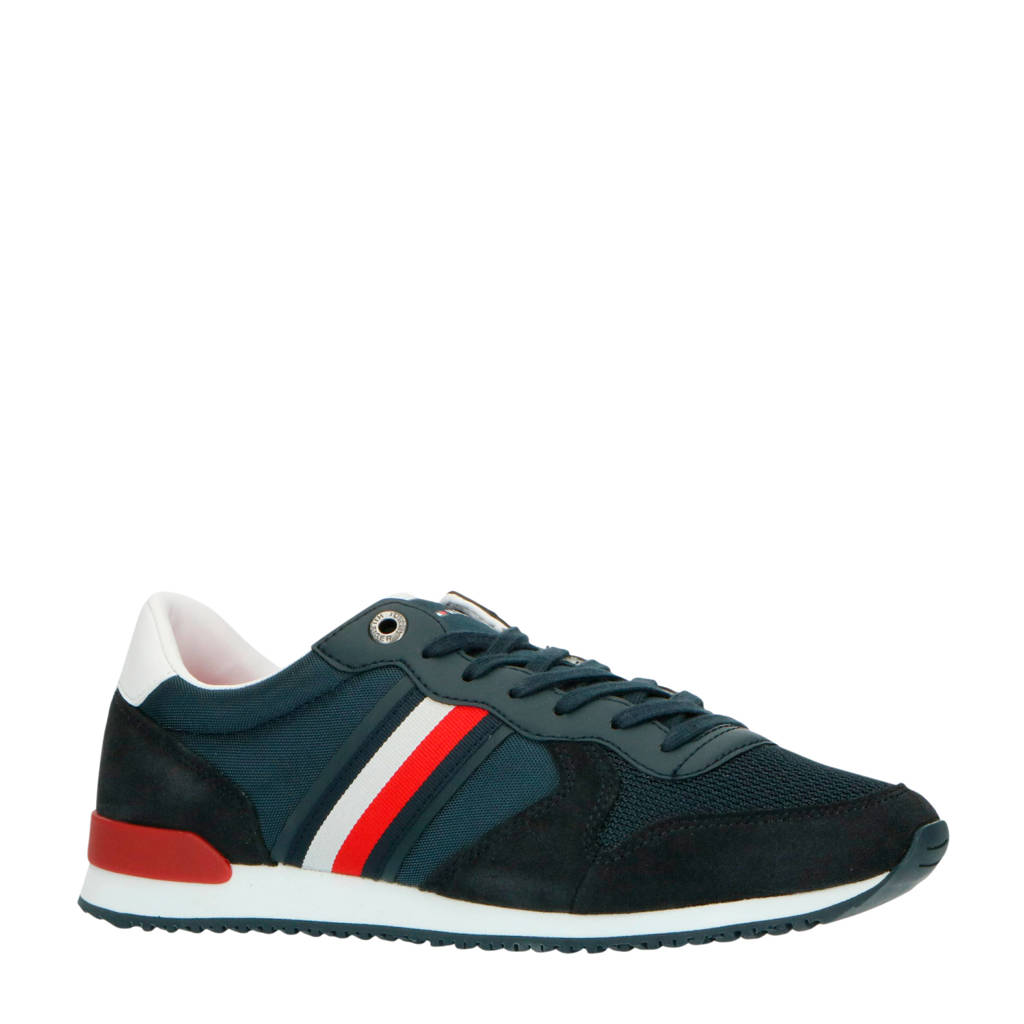 Tommy Hilfiger Iconic  sneakers blauw, Blauw/wit/rood