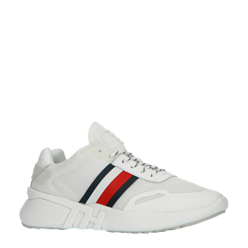 Tommy Hilfiger Sporty Branded Runner  sneakers wit, Wit/blauw/rood