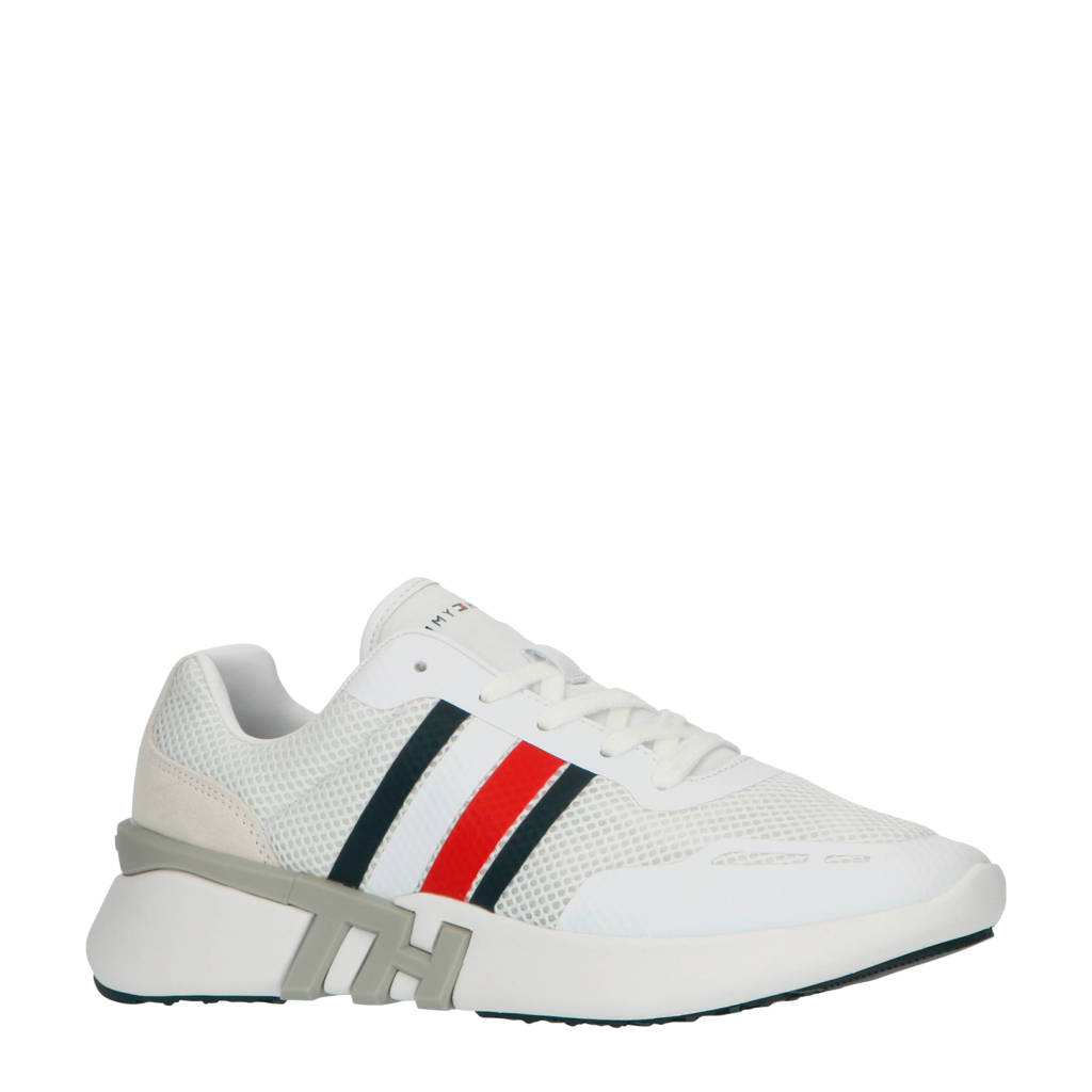 Tommy Hilfiger Corporate TH Runner  sneakers wit/donkerblauw/rood, Wit/donkerblauw/rood