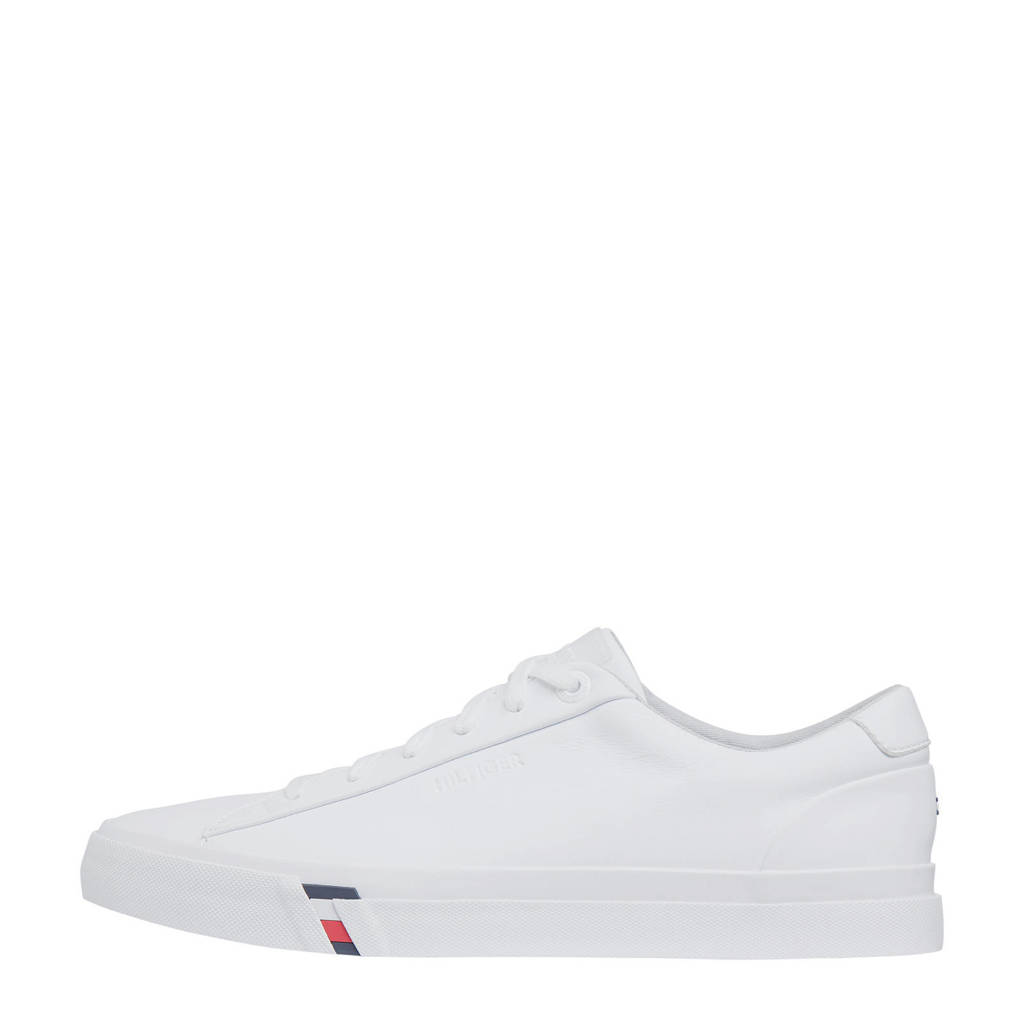 Tommy Hilfiger Corporate  leren sneakers wit, Wit