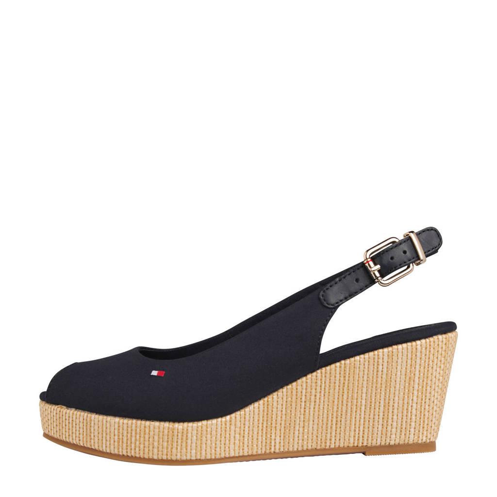 Tommy Hilfiger Iconic Elba  slingback sandalettes donkerblauw, Donkerblauw