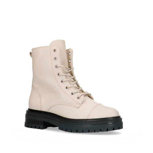 Sacha leren veterboots off white