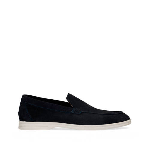 Manfield su??de loafers donkerblauw