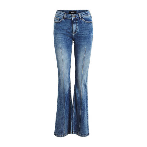OBJECT flared jeans blauw