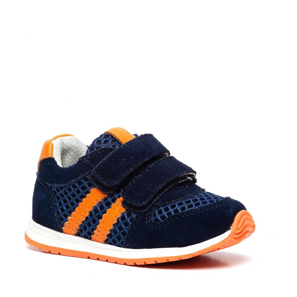 Scapino TwoDay   suède sneakers blauw/oranje, Blauw/oranje