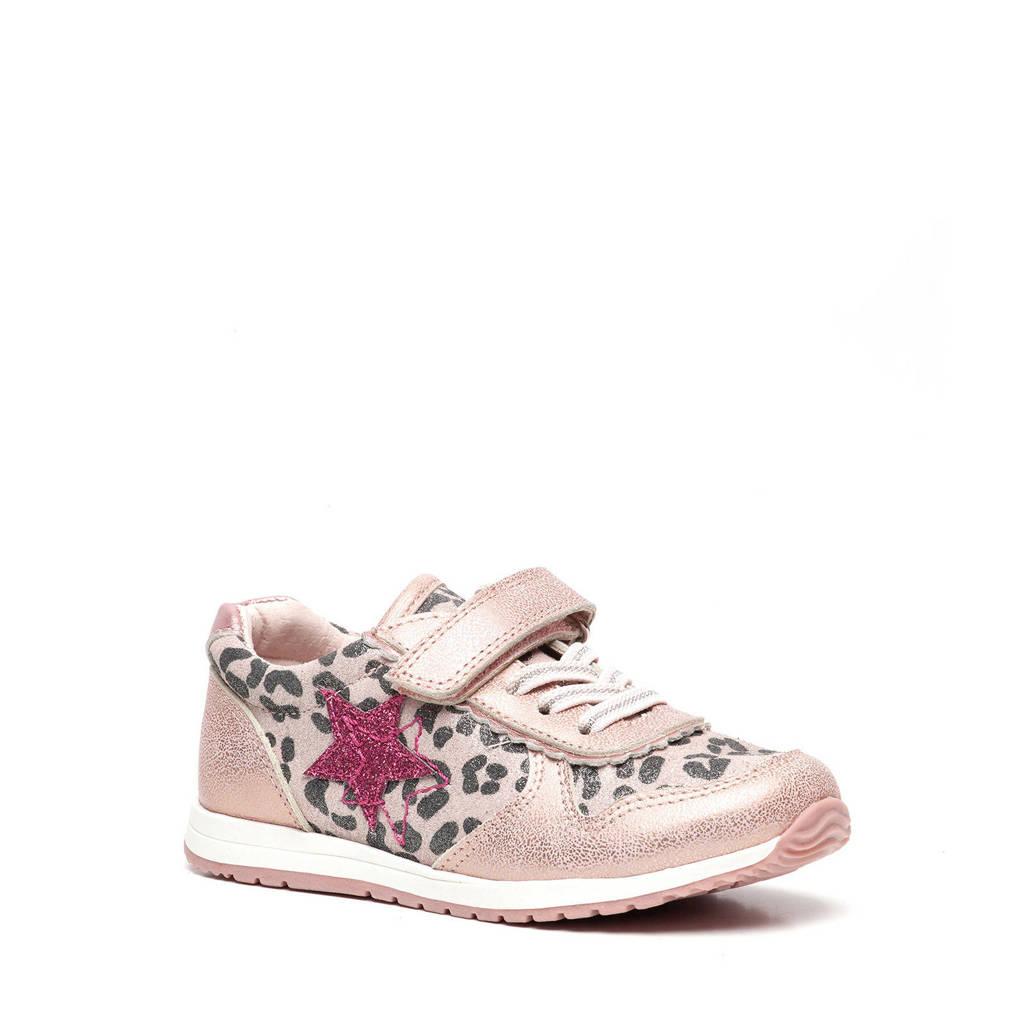 Scapino TwoDay   leren sneakers roze/panterprint, Roze/Zilver