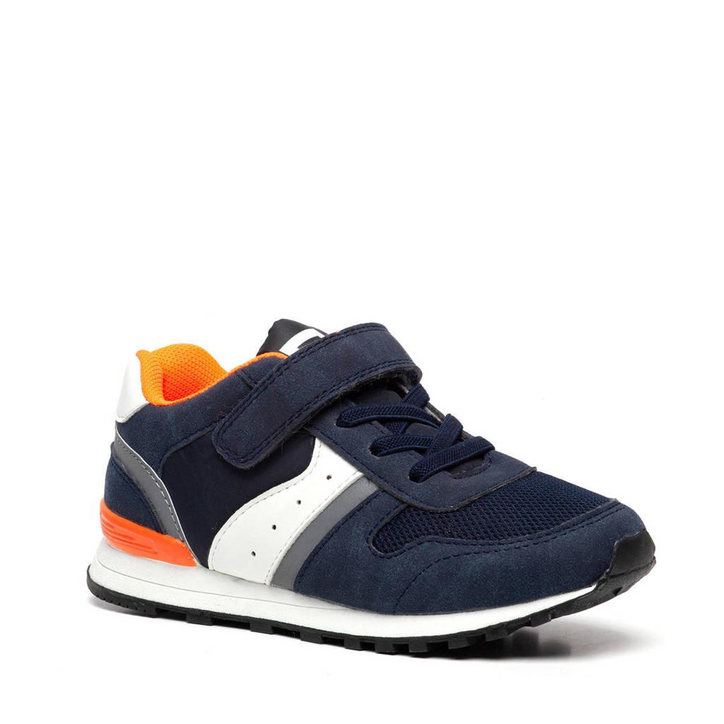 Scapino Blue Box   sneakers donkerblauw, Blauw/wit/oranje