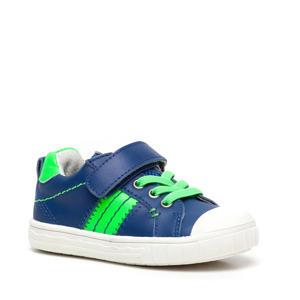 leren sneakers blauw/groen