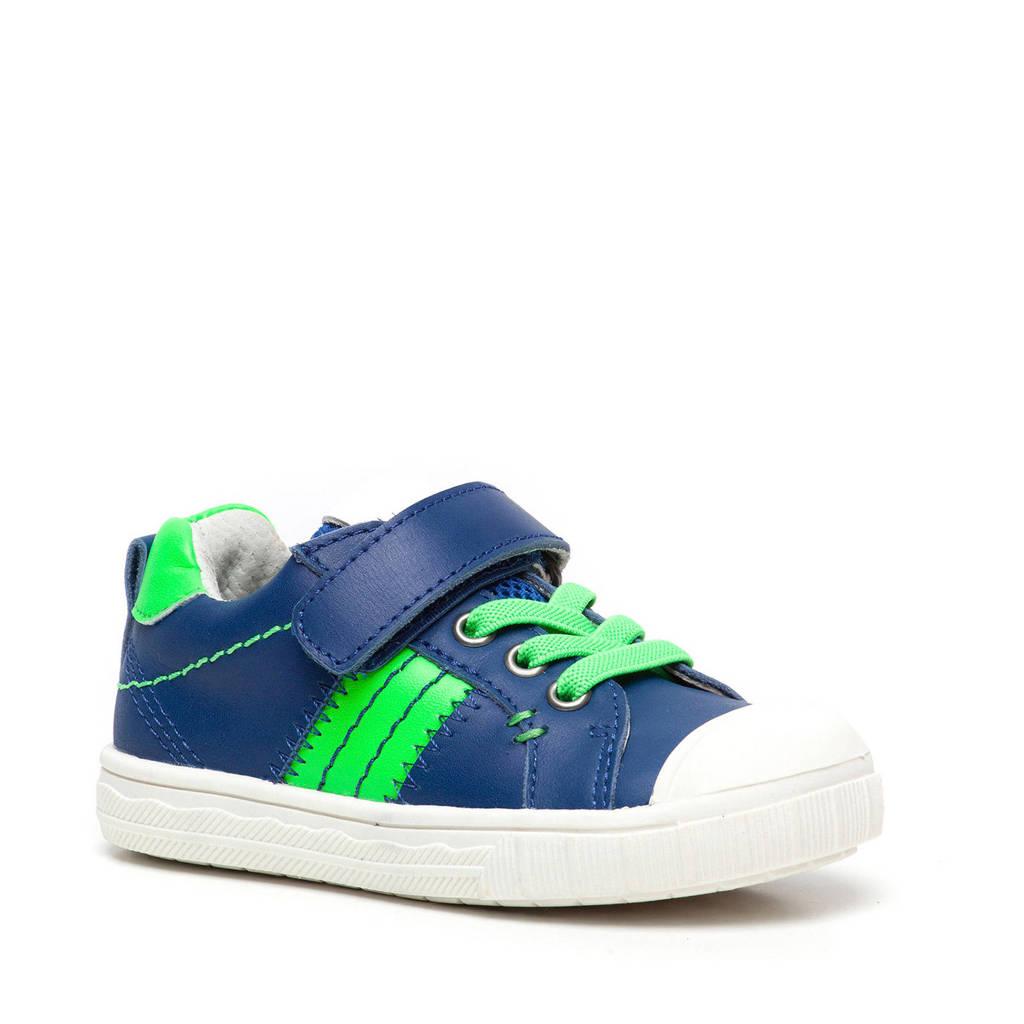 TwoDay   leren sneakers blauw/groen, Blauw/groen