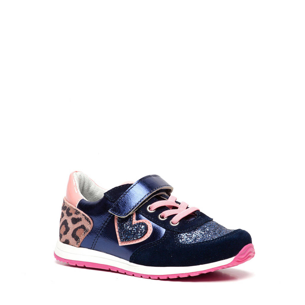 Scapino TwoDay   leren sneakers blauw/roze, Blauw/roze
