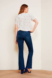 Fabienne Chapot flared jeans Eva dark blue denim, Dark blue denim