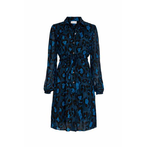 Fabienne Chapot blousejurk met panterprint donkerb