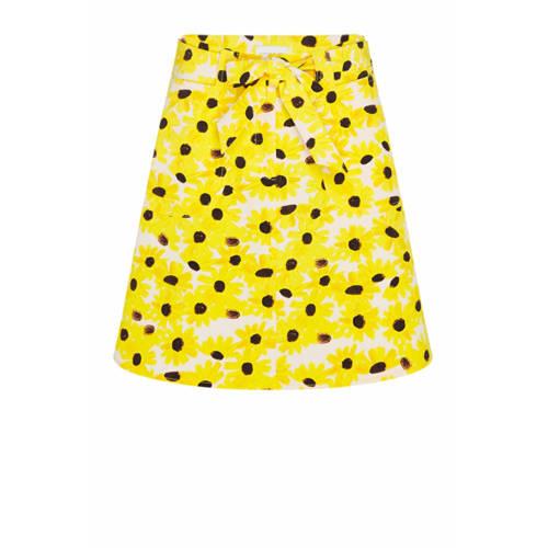 Fabienne Chapot gebloemde rok Harry geel/multi