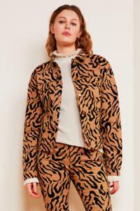 Fabienne Chapot jasje Cyprus met panterprint lichtbruin/zwart, Lichtbruin/zwart