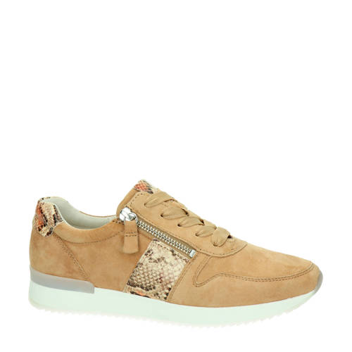 Gabor su??de sneakers camel
