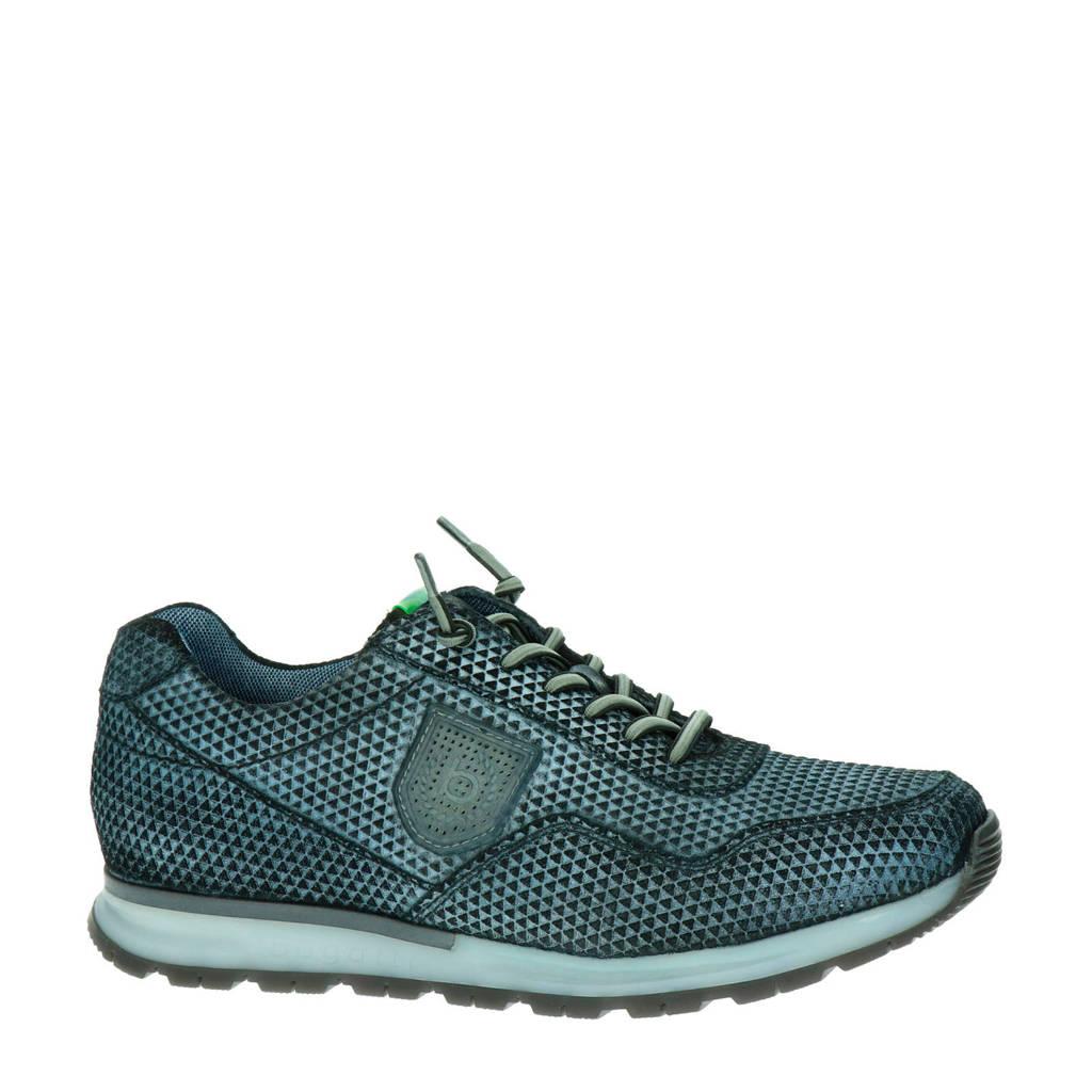 Bugatti   suède sneakers blauw/zwart, Blauw/zwart