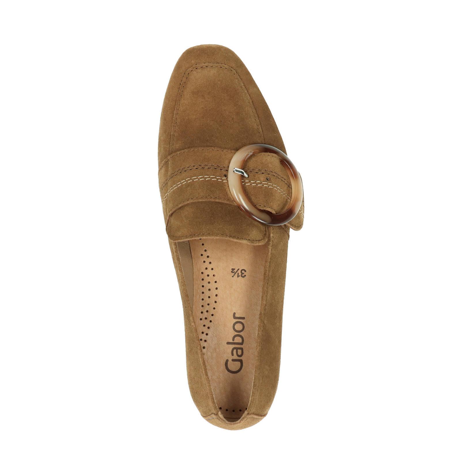 Gabor suède loafers bruin | wehkamp