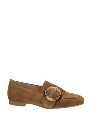 suède loafers bruin