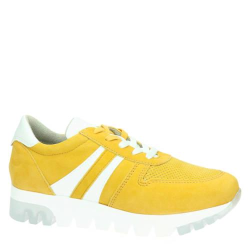 Tamaris su??de sneakers geel