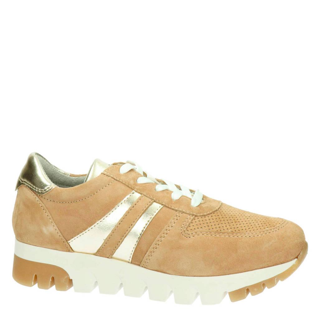 Tamaris   suède sneakers camel, Camel/goud