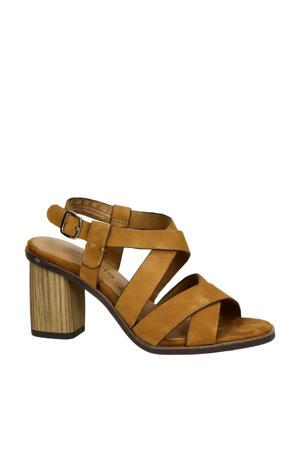 suède sandalettes cognac