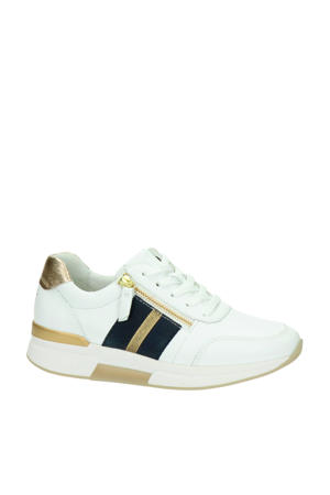 Rollingsoft comfort leren sneakers wit/goud