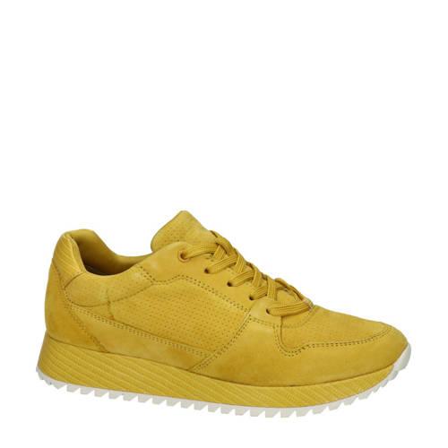Tamaris su??de sneakers okergeel
