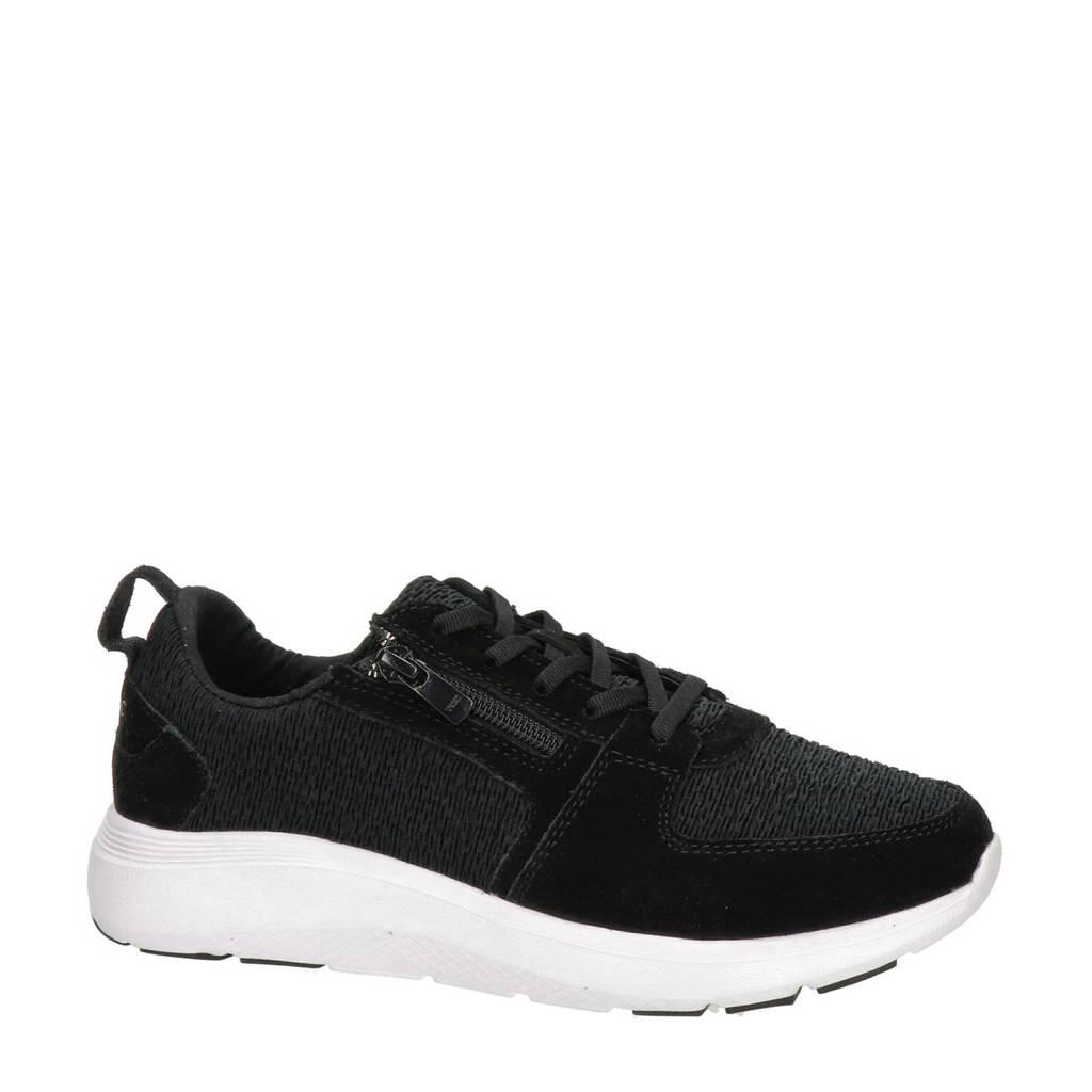 Vionic Remi  suède sneakers zwart, Zwart