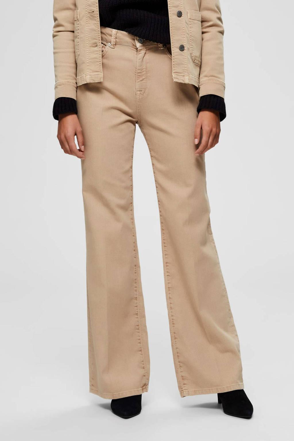 SELECTED FEMME flared jeans camel, Camel
