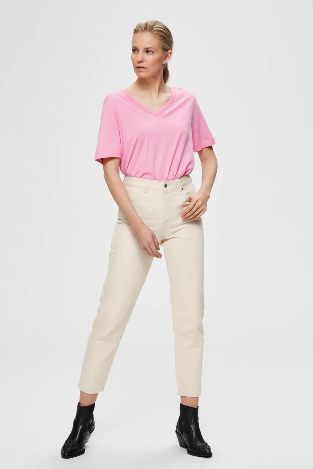 SELECTED FEMME T-shirt roze, Roze