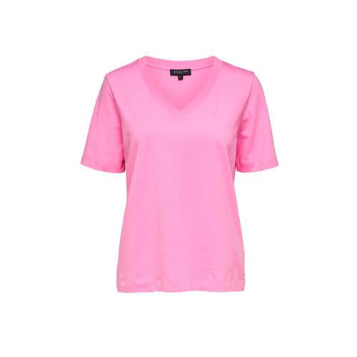 SELECTED FEMME T-shirt roze