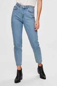 SELECTED FEMME high waist mom jeans SLFFRIDA light blue denim, Blauw