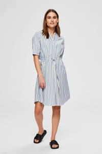 SELECTED FEMME gestreepte jurk blauw/wit, Blauw/wit