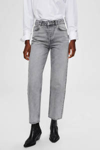 SELECTED FEMME straight fit jeans, Grijs
