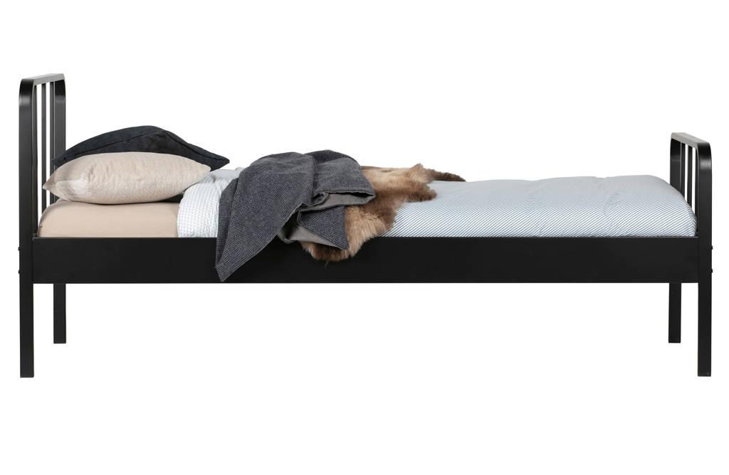 Woood bed Mees  (90x200 cm), Zwart