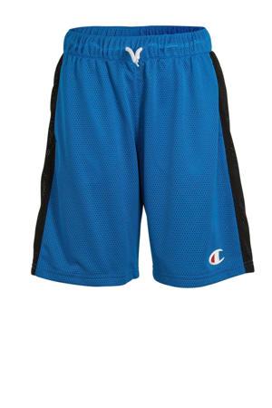 short met logo blauw/zwart