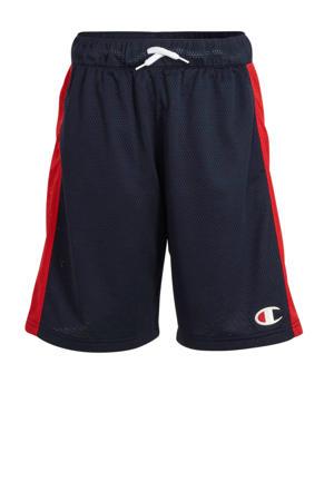 short met logo donkerblauw/rood