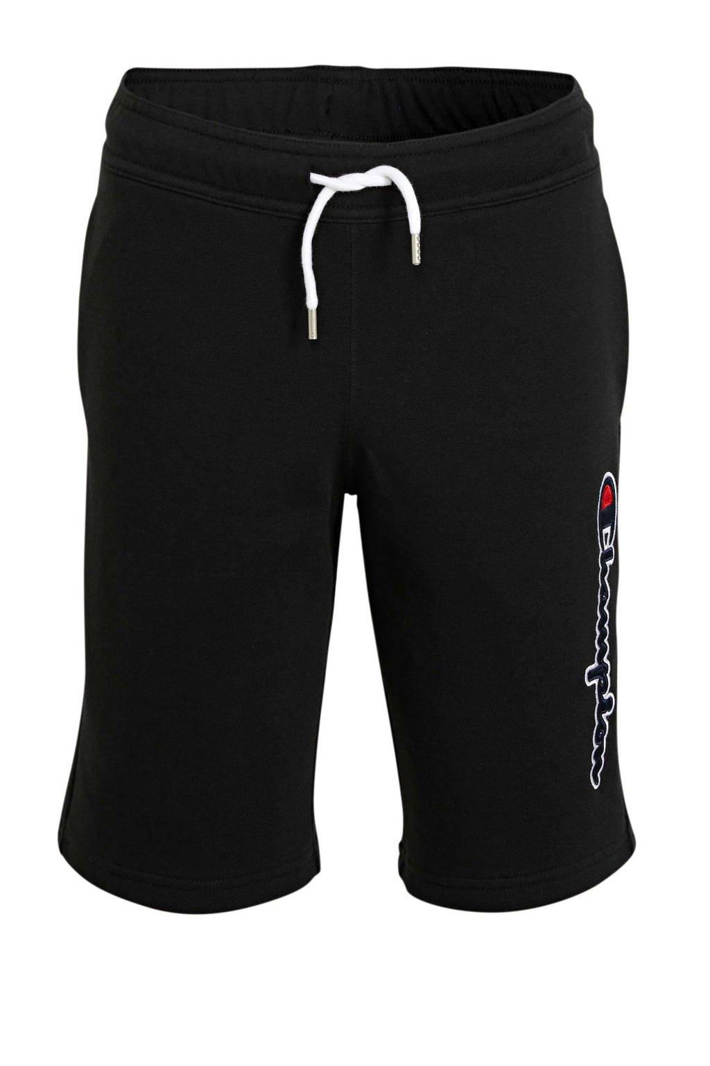 Champion sweatshort met logo zwart, Zwart